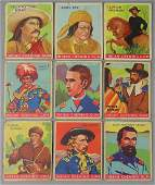 Nine Indian Chewing Gum Cards