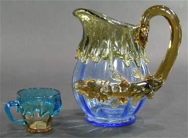 RARE STEVENS & WILLIAMS ART GLASS SALAMANDER PITCHER