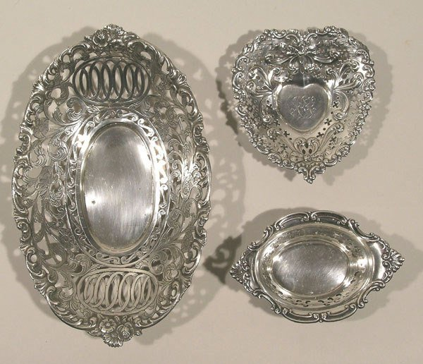 4: Three Small Sterling Silver Trays