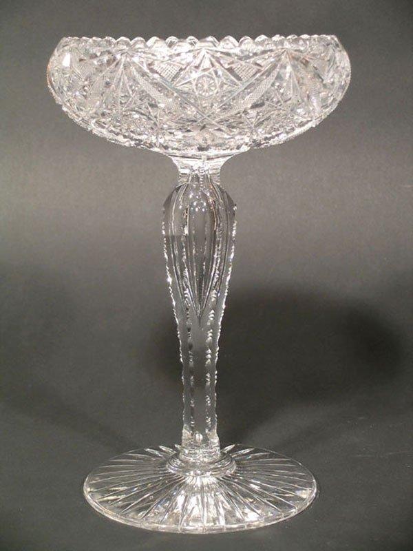17: American Brilliant Cut Glass Compote
