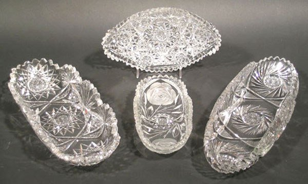 19: Four American Brilliant Cut Glass Dishes