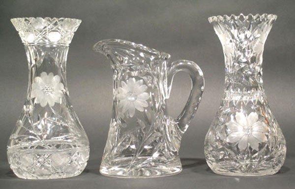 20: Three American Brilliant Cut Glass Table Articles
