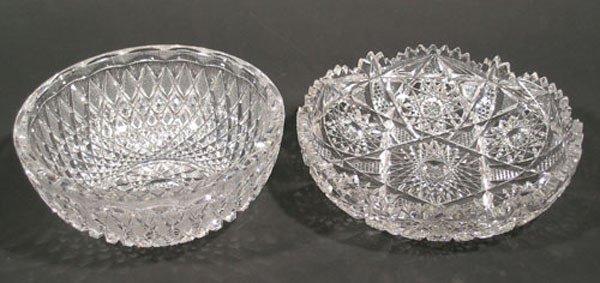 21: Two American Brilliant Cut Glass Bowls