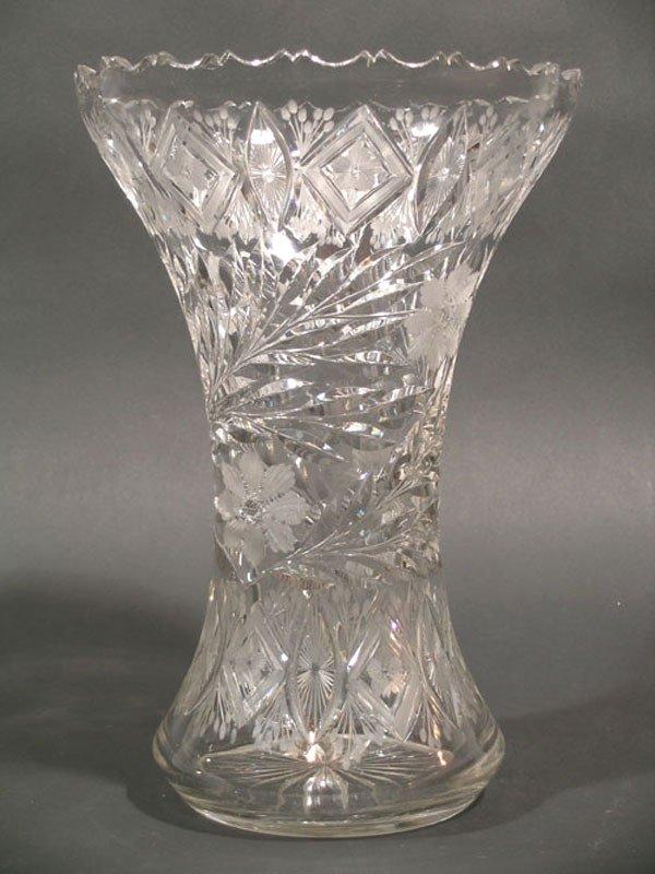 22: American Brilliant Cut Glass Vase
