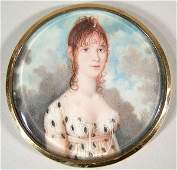 151 Early 19th C Miniature Portrait on Ivory