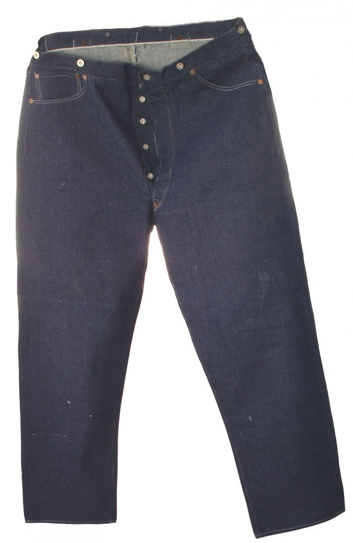 Exceptionally Rare Pair of Levi Strauss & Co. XX Blue