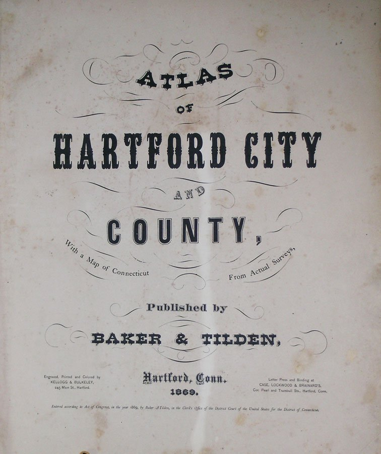 Atlas Of Hartford City And County, With a Map of