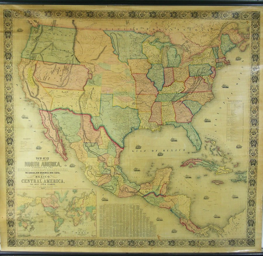 New Map Of The Portion Of North America Exhibiting The