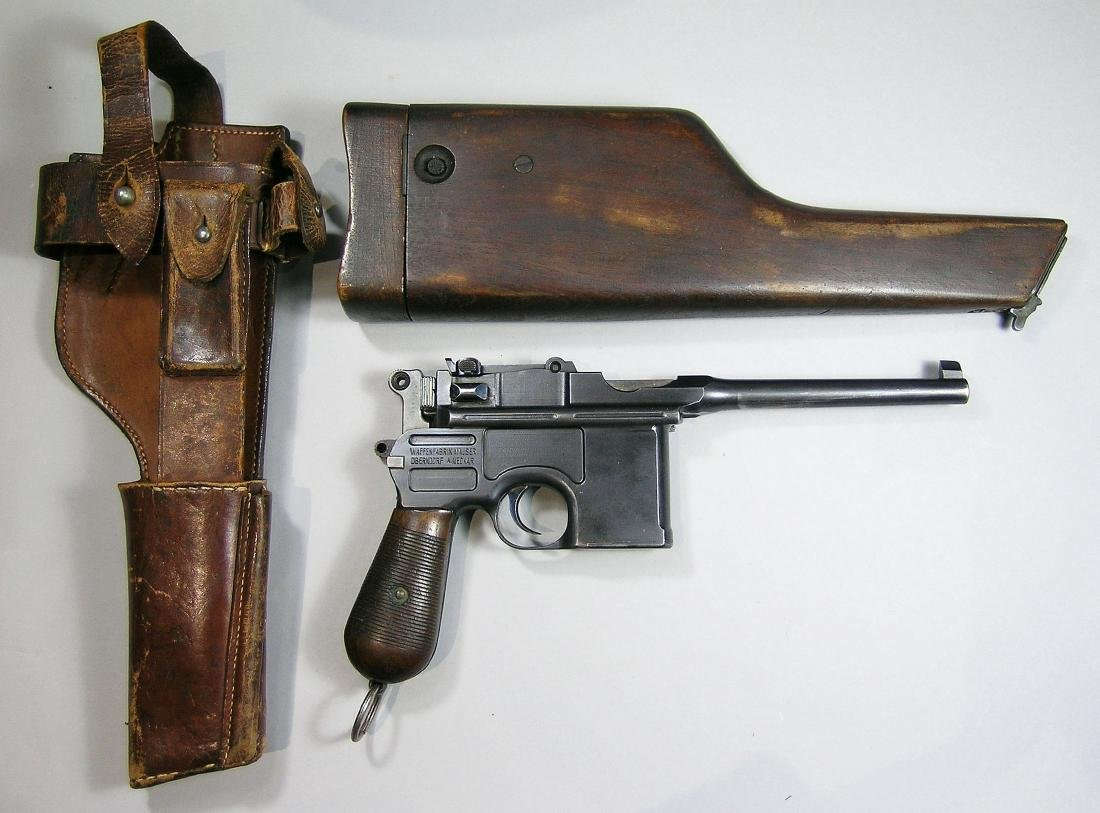 "Mauser C-96 ""Broomhandle"" Semi-Automatic Pistol"