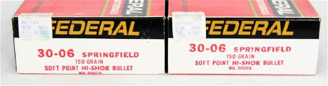 40 rounds of Federal 30-06 Springfield 150 Gr. SP