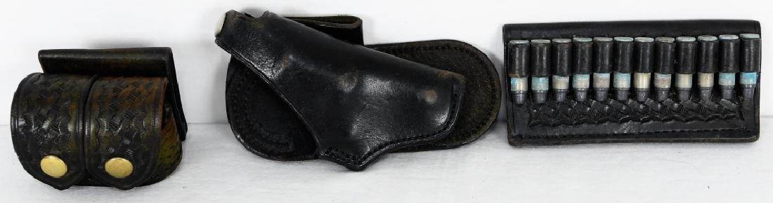 lot of 3 leather goods: The Hub leather holster