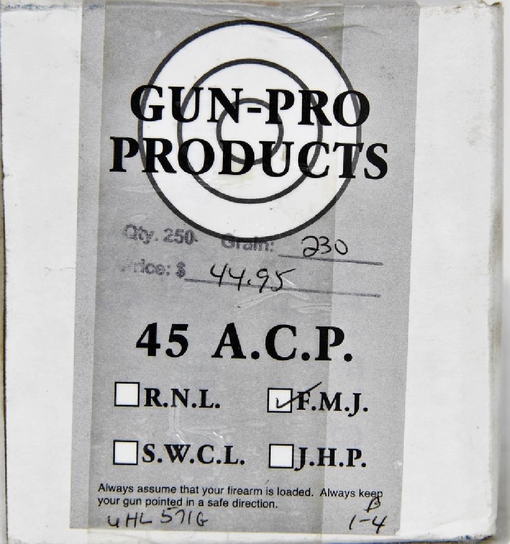 250 Rounds of Gun Pro .45 ACP FMJ Ammunition