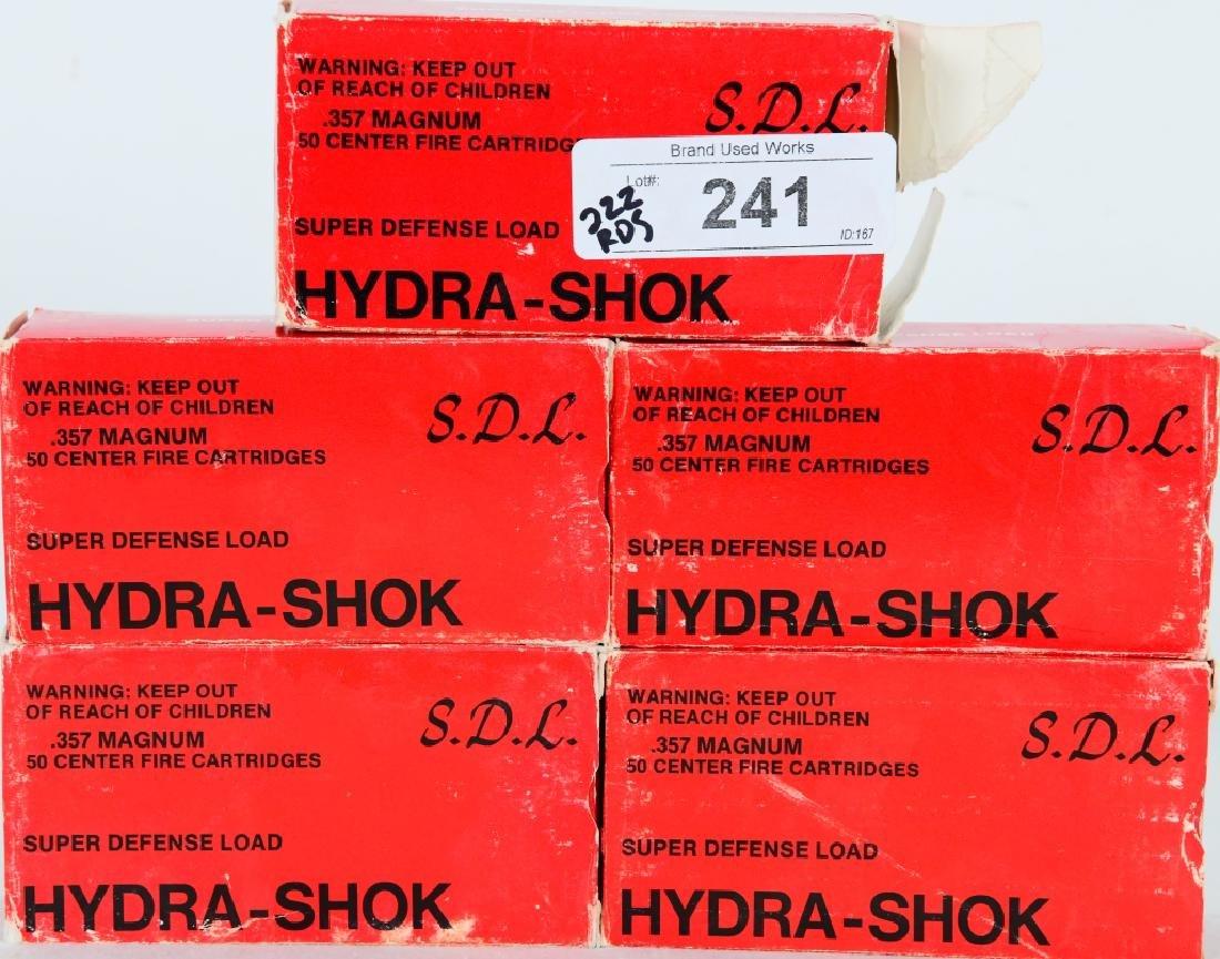 222 Rounds of Hydra-Shok.357 magnum 125 gr ammo