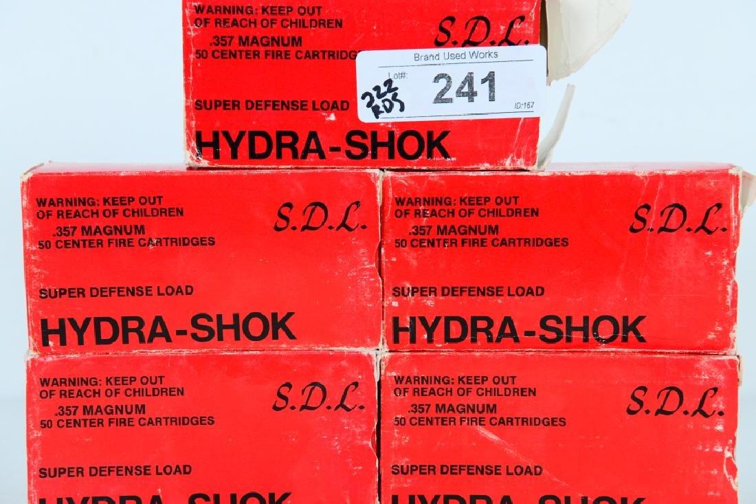 222 Rounds of Hydra-Shok.357 magnum 125 gr ammo - 2