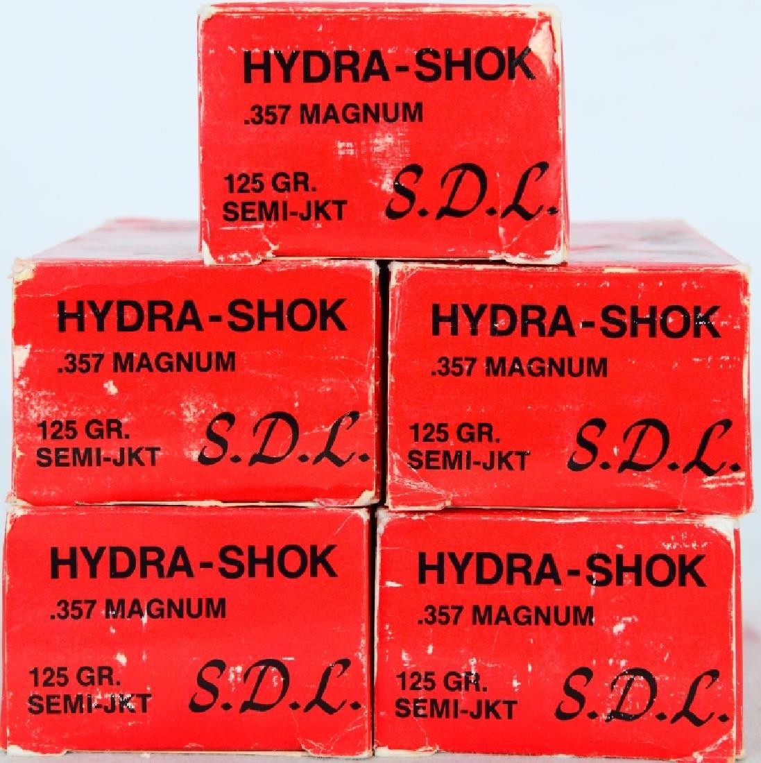 222 Rounds of Hydra-Shok.357 magnum 125 gr ammo - 3