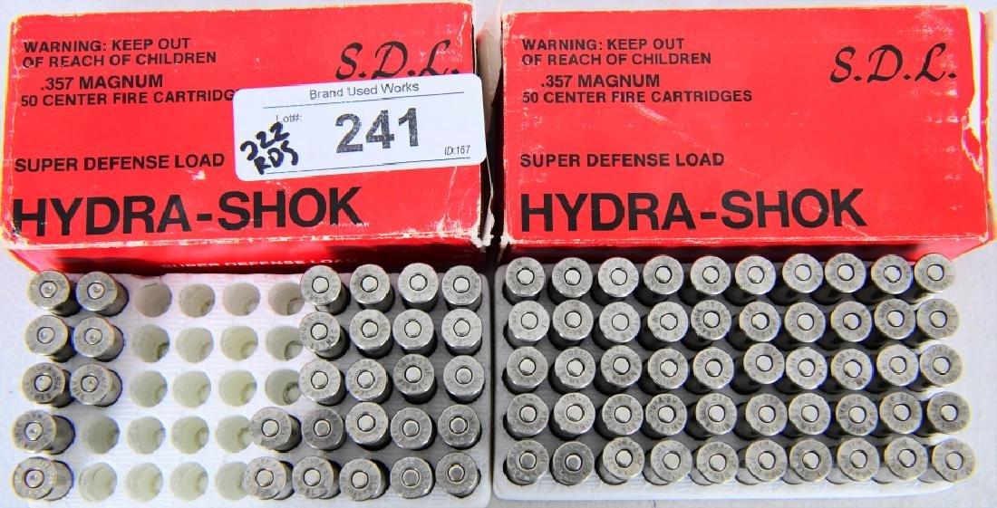 222 Rounds of Hydra-Shok.357 magnum 125 gr ammo - 4