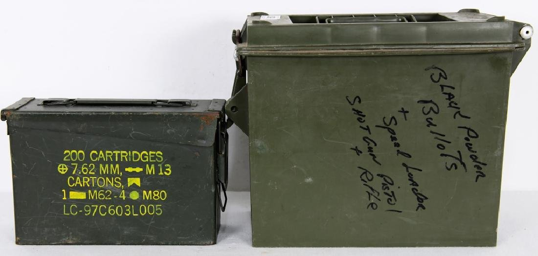 U.S. Military Issued Ammo Can & 1 lg Plastic Ammo