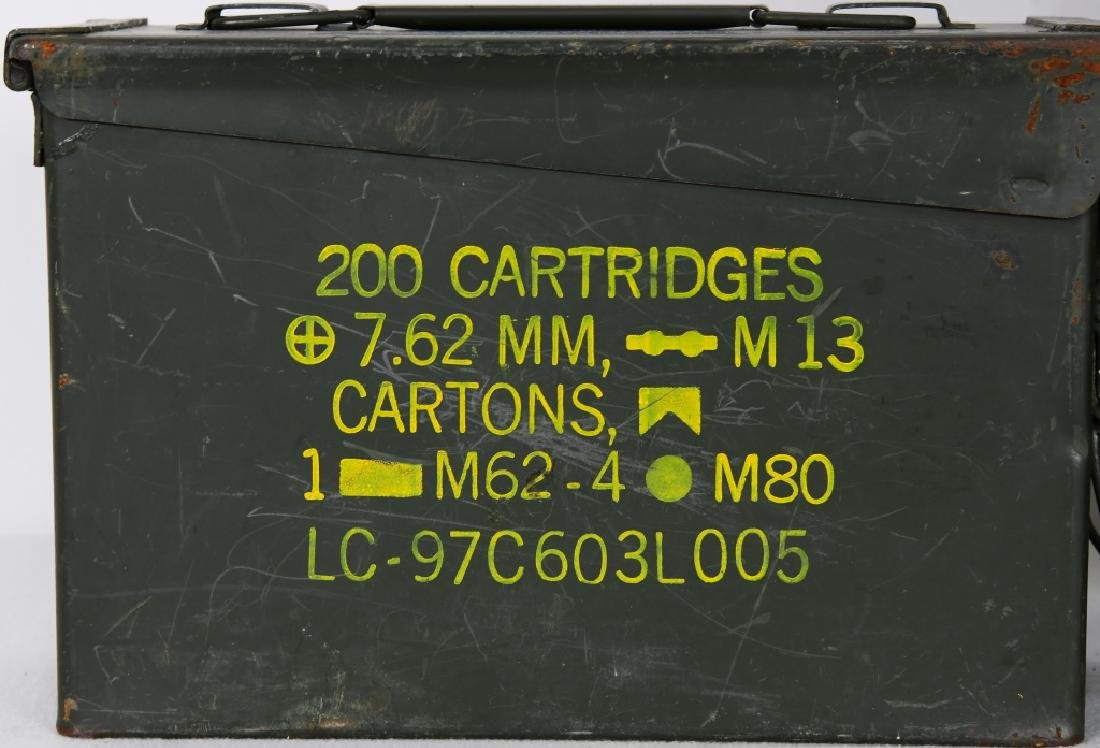 U.S. Military Issued Ammo Can & 1 lg Plastic Ammo - 2