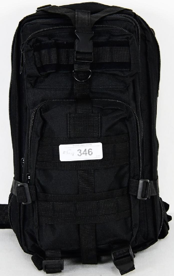 New Tactical Prepper Backpack Black print Med sz