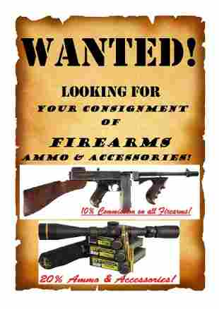 Accepting Consignment for April Gun Auction Now