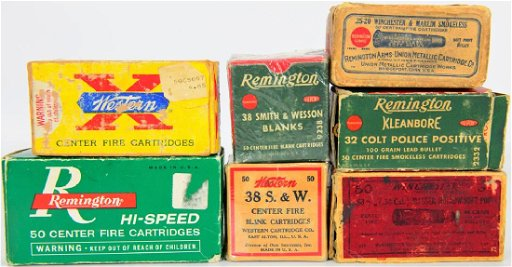 Vintage Collectible Ammo and Boxes