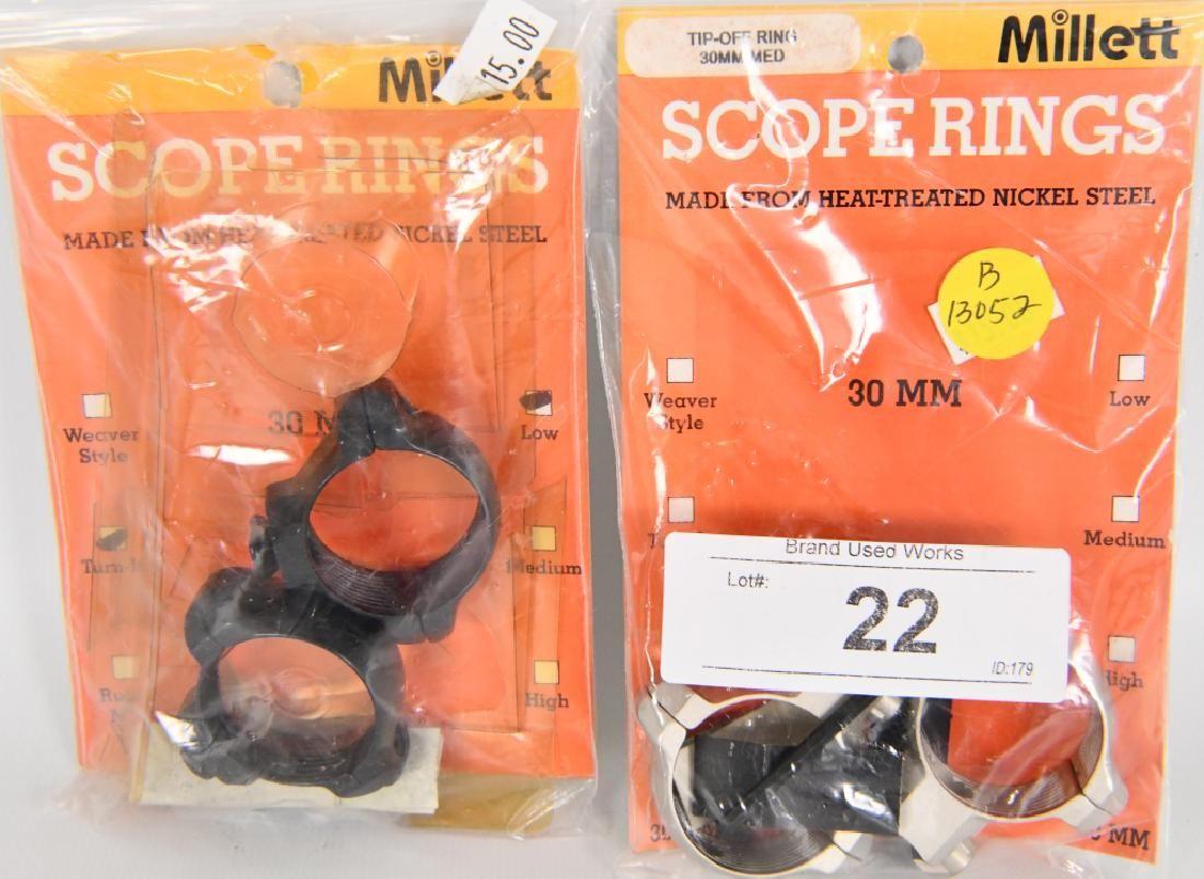 NEW Millett Scope Rings 30mm Med & 30mm turn in lo
