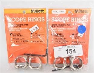 Lot of 2 MILLETT Scope Rings new in pkg