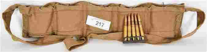 50 Rds of .303 British With Bandolier WW2