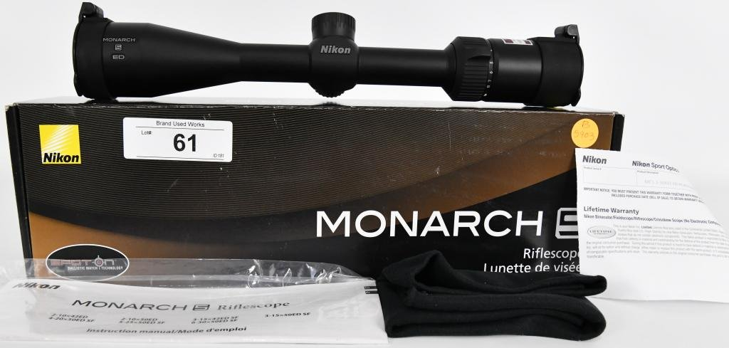 "Nikon MONARCH 5 ED Rifle Scope 1"" Tube 2-10x42mm e"
