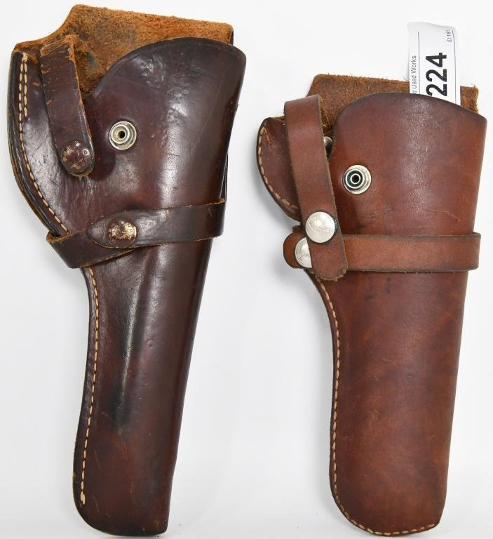 Two Leather Holsters Durable and Rugged