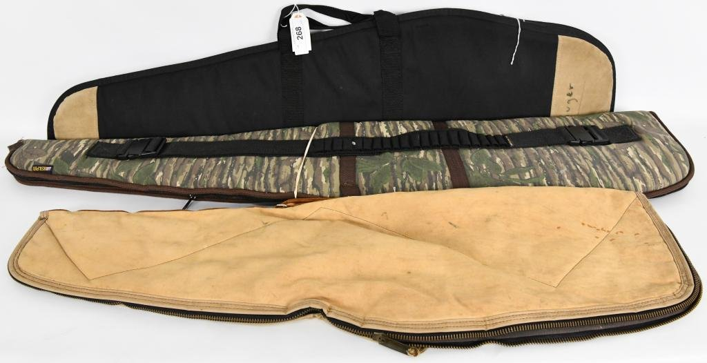Lot of 3 Padded Soft Rifle / Shotgun Cases