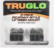 "TRUGLO Two Piece Riser Rail 1"" Picatinny Black NEW"