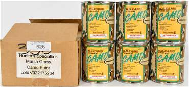 (6) cans Hunter's Specialties Camo Paint Marsh Gra