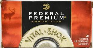 17 Rounds Of Federal Vital-Shok .338 Win Mag