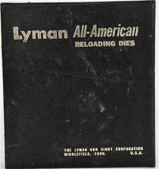 Vintage Lyman A-A 3 Die Set For .38-357