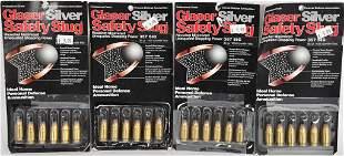 (4) pkgs Glaser Silver Safety Slug Ammo 357 sig 80