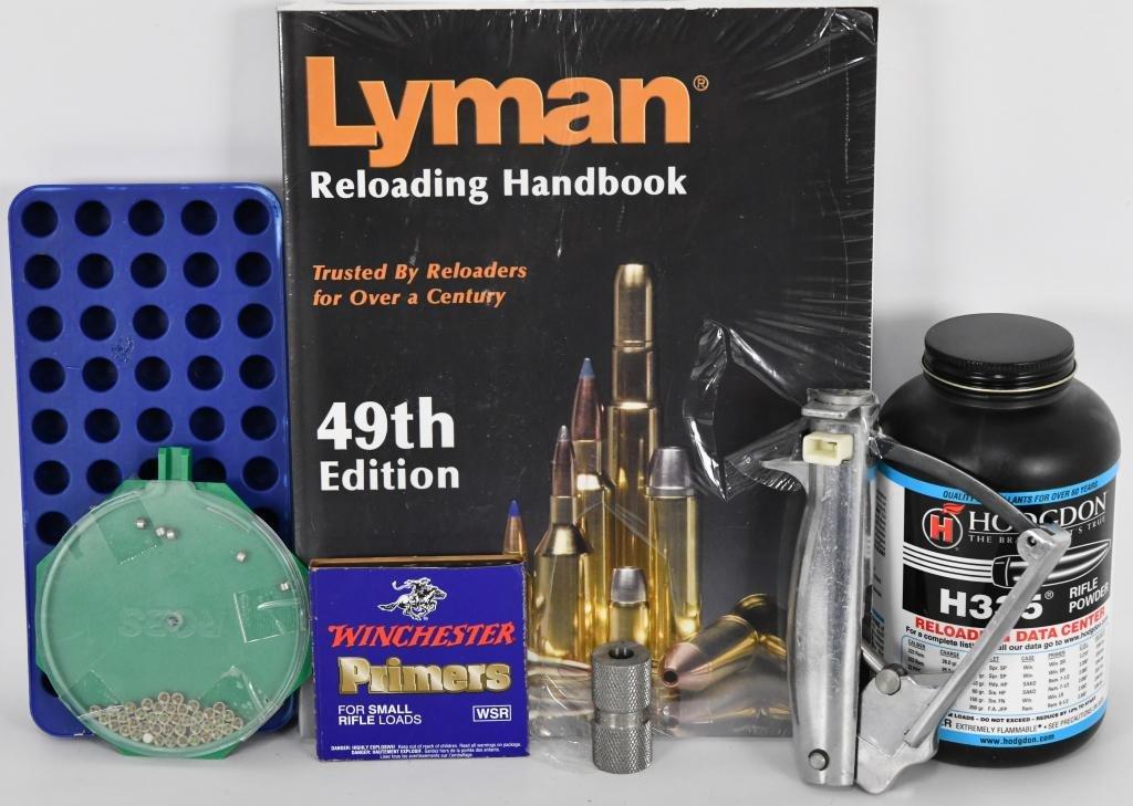 Reloading Lot: Hodgdon Powder, Lyman Book new and