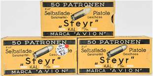 150 Rounds Of Sinoxid Steyr 9mm Ammunition