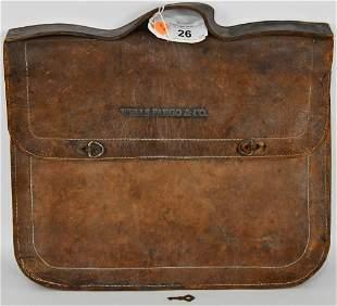 Vintage Wells Fargo & Co Leather Dispatch Carrier