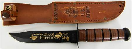 "US Army Marked KA-BAR ""Operation Iraqi Freedom"""