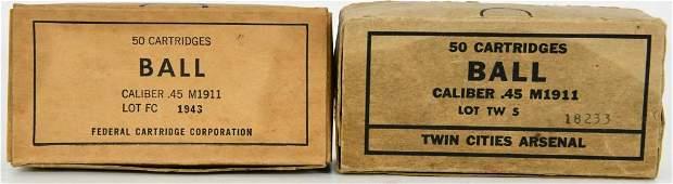 50 Rounds Of M1911 .45 Ball Ammunition