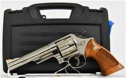MINT Smith & Wesson Model 57 Nickel .41 Magnum