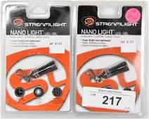 Lot Of 2 NEW Streamlight Nano LED Lights