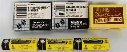 Lot Of 6 Various Vintage Scope Rings & Bases