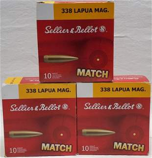 30 Rounds Of Sellier & Bellot Match .338 Lapua Mag
