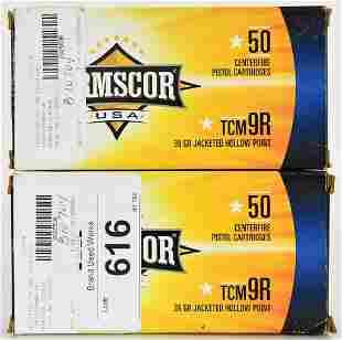 100 Rounds of Armscor USA 22 TCM 9R 39 Grain JHP