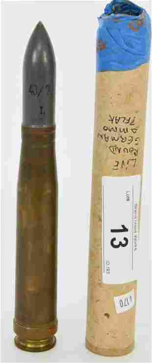 Live WWII German 20MM Flak Cartridge