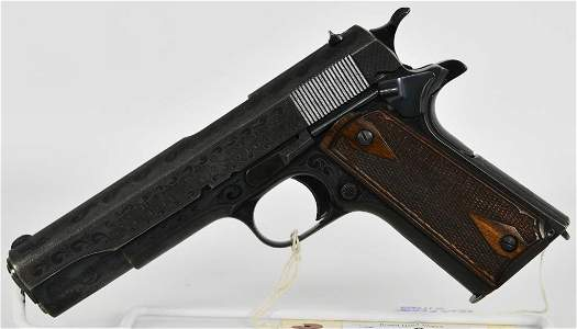 Stunning Engraved Colt Goverment Model 1911 .45