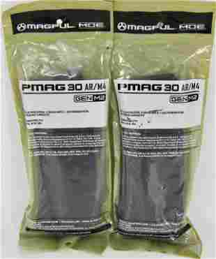 ( 2) NEW Magpul PMAG Gen 2 AR-15 Mags 5.56 30rd