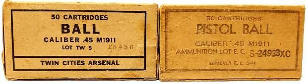 100 Rounds Of Ball .45 Auto M1911 Ammunition 50